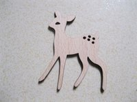Wholesale Free Shippping brand new wooden animal brooches fashion deer brooch