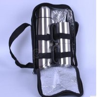 Wholesale Double ml stainless steel vacuum insulation Cup bullet travel set plus two ML