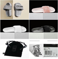 Wholesale 2016 New Arrival Leadcat Fenty Rihanna Shoes Women Slippers Indoor Sandals Girls Fashion Scuffs Pink Black White Grey Slide