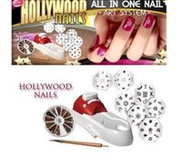 Wholesale Hollywood nail art system all in one set salon quality designs to manicure for nail polish stamping