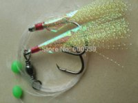Wholesale 2015 New Arrival Bags Per Flasher Rigs Yellow Color Hook Size Line weight LB Fishing Lures Tackle