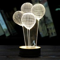 balloons dc - High Quality Popular Creative New Balloon D Unique Lighting Effects Optical Illusion Home Decor LED Table Lamp Gift PC