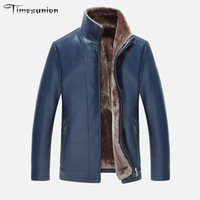 Wholesale Fall Men s Leather Jacket Winter Casual Leather Jackets And Coats For Men PU amp Fur Coat Suit Collar Faux Leather Jacket