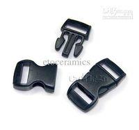 Wholesale Black quot mm Plastic Buckles Contoured Curved for ParaCord Bracelet webbing lots10000