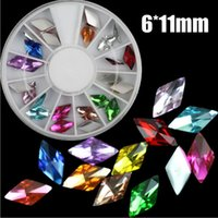 beauty color wheel - 24pcs nail art decorations mix color diy rhinestones for nails mm diamond shaped glass beauty d nail art tools wheel
