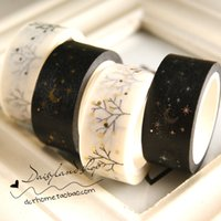 Wholesale Full Japanese and paper tape color whole roll gold foil decorative label hand account book paper hand tear