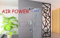 Air Drop bathroom technology - Wall Mounted Solid Brass Chrome Bathroom Bathtub Faucet inch Square Rainfall Shower Head Germany Air Drop Technology SA
