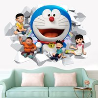 Wholesale Brand New PVC removable movies cartoon home murals environmental waterproof kids beds living room decoration poster drop shipping