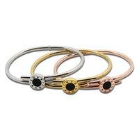Wholesale Hot Sale Colors Top Fashion Black Seashells Love Bracelet Stainless Steel Bangle New Lady Cuff Fine Jewelry Pulsera Women s Bracelets