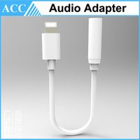 Wholesale For iPhone Earphone Jack mm Audio Adapter Cable Headset Adapter For iPhone S S Plus