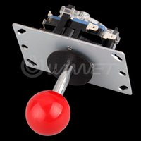 arcade stick parts - PC Game Hardware Gamepads Red Ball Way Joystick Fighting Stick Parts for Game Arcade parts drum