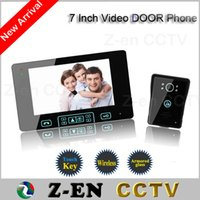 Wholesale hot sale quot TFT Monitor LCD Color Wireless Video Door Phone Doorbell Home Security door Intercom with night vision function
