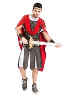 adult medieval knight costume - Ancient Roman Warrior Gladiator Costumes Masquerade Party Men Knight Julius Caesar Halloween Adult Cosplay Couple Cotume