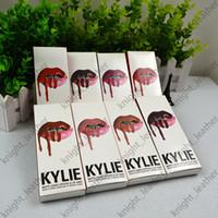 Wholesale kylie jenner lip kit lip gloss matte liquid lipsticks sets with matte lip gloss lip liner colors in stock selling