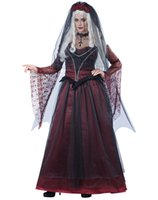 anime bride - Sexy Halloween costumes form women anime cosplay Immortal Vampire Bride Costume Wine red Bride cosplay dress match veil