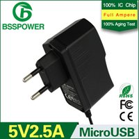 adaptor jack usb - High Quality Power adapter V A universal power adaptor AC DC Adapter With EU Connector DC Jack Micro USB