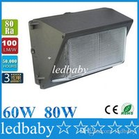 Wholesale CREE LED W W led wall pack Outdoor Wall Mounted light Pure white K meanwell driver DLC ETL Listed V