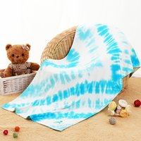 Wholesale Tie Dye cotton Bamboo reactive dye beach towel styles unique pattern with nice sewing beach towel