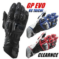 Wholesale 1604 TOP Racing Gear RS TAICHI GP EVO Motorcycle Gloves Real Leather Road Racing Glove PK Knox Glove Black White Red Moto Guantes