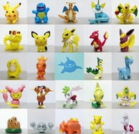 Wholesale 144pcs Cute Movie Pocket Poke Figures Toys cm Charizard Eevee Bulbasaur Suicune PVC Mini Model Toys For Children