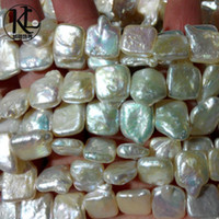 baroque pearls wholesale - Best selling AA grade high luster mm baroque square shape natural cultured freshwater pearl strands