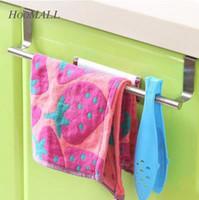 bathroom towel storage cabinet - Stainless Steel Towel Rack Bar Holder Fit Kitchen Cabinet Cupboard Door Hanging Rack Storage Holders Accessories