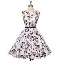 Wholesale Womens plus size clothing Audrey hepburn s Vintage robe Rockabilly Dresses Summer style Retro Swing Casual print Vestidos