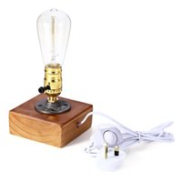 Wholesale Hot Sale High Quality Loft Vintage E27 Edison Bulb Table Lamp Dimmable Water Pipe Light Home Bar Table Decor lt no tracking
