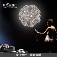 Wholesale Nordic modern minimalist living room round crystal pendant creative led art spherical European style luxury restaurant bedroom