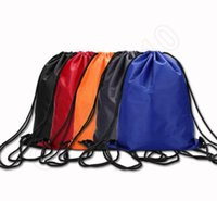Wholesale Portable Waterproof Drawstring Backpack Polyester Shoulder Bag For Sports Travel Large Capacity Drawstring Bag LJJQ385