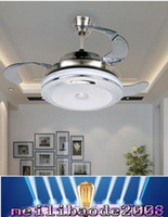 bedroom ceiling fans lights - 42 inch Bedroom Ceiling Fan Lighting Remove Control Invisible Fan Home Led Lamps Lighting Ceiling Fans MYY