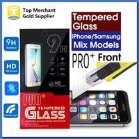 precio de fábrica ultra fina PRO pantalla + 9H vidrio templado Protector de alta calidad para el iPhone 7 6s Plus Galaxy S7 A9 J7 2016 paquete al por menor
