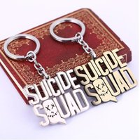 Wholesale HSIC JEWELRY Suicide Squad Keychain New Key Rings For Gift Chaveiro Car Key Chain Jewelry Movie Key Holder Souvenir YS11258