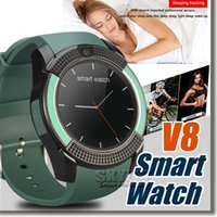 answers purple - V8 Smartwatch Bluetooth Wathces with M Camera SIM And TF Card Watch For Samsung Note Cellphone IOS Iphone Smartphone with Retail Box