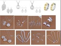 austrian crystal wholesale - 12 sets fashion Women Jewelry set High quality austrian jewelry set necklace bracelet earriings rings