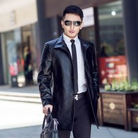 Wholesale Brand new winter fashion business casual men s leather coat of cultivate one s morality men wearing fur coat
