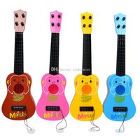 Wholesale 4 Strings Musical Plastic Toy Ukulele Small Guitar For Beginners Kids Children A00089 SMAD