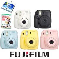 Wholesale Fuji Mini Camera Fujifilm Fuji Instax Mini Instant Film Camera New Colors White Pink Yellow Blue Black White film