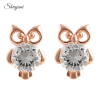 owl earrings - New Arrival Earrigns mm Mix Colors Crystal Stud Earrings Owl Luxury Stud Earrings for Women Gift