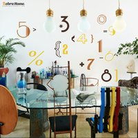 adhesive vinyl numbers - Cartoon Cute Number And Symbol Cool Style Wall Sticker For Kids Nursery Room Home Decoration Murals Wallpaper