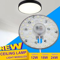 adsorption cooling - Ceiling light W W W replacement Led modules light suorce high brightness SMD2835 aluminum PCB Magnet adsorption AC220V