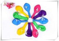 ballon pumps - 40pcs NEW Colorful letters round balloons latex balloons party supplies A Z DIY letter party ballon balloon pump