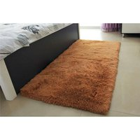 Wholesale Soft Solid Anti skid Carpet rug bathroom Flokati Shaggy lanital Mat area rug for living room ZH182