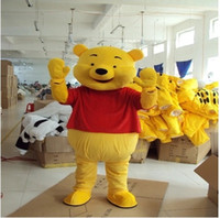 anime adult pictures - Real Pictures Deluxe Winnie the Pooh POOH BEAR Mascot costume Adult SIZE Halloween Party Children Fancy dress factory direct