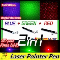 Wholesale Free DHL mW nm Green Light in1 Single Point Beam Laser Pointer Pen With Cap For SOS Mounting Night Hunting Teaching Xmas Gifts