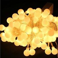 Wholesale LED string lights M leds Christmas Lamp led lantern LED Garland strip LED string Xmas holiday lighting Globe bulb LED