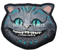 alice motorcycle - 10 quot Cheshire Cat Large Alice in the Wonderland patch tv Outlaw MC Embroidered Motorcycle Biker Vest Patch IRON ON Badge Jacket