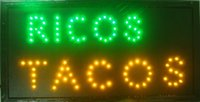 Wholesale Led hot sale X19 inch indoor Ultra Bright ricos tacos delicious tacos store Neon light sign