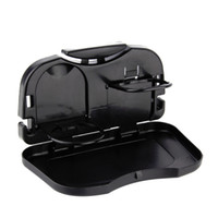 Wholesale Folding Car Tray Food Car Stand Rear Seat Beverage Rack Water Drink Holder Bottle Travel Mount Accessory Foldable Meal Cup Desk Table
