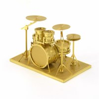 art and craft musical instruments - D metal world DIY puzzle model musical instrument rack drum creative arts and crafts festival gifts adult toy decorations